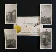 Vintage Original Marineland Jumpmaster Porpoise Feeding Certificate & Photos