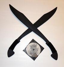 Filipino Moro Itak Twin Blade Practice MARTIAL ARTS SWORDS Katana Training Video
