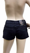 Genuine Roberto Cavalli Just Cavalli Short black shorts denim pantaloncini 26/40
