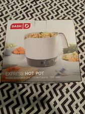 Dash Express Electric Cooker Hot Pot con Temperat. Control de fideos y más
