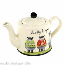 NEW Moorland Pottery Sheep Woolly Jumpers Teapot Tea pot - Gift Boxed