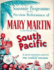 SOUTH PACIFIC BROADWAY SOUVENIR PROGRAM SIGEND BY MARY MARTIN