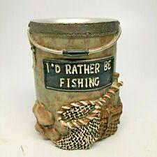 Rather Be Fishing Bathroom Tumbler Cup Rustic Fishing Decor Avanti