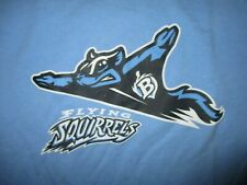 "FLYING SQUIRRELS T SHIRT Baseball Minors Richmond? ""B"" Blue Nutzy Adult MEDIUM"