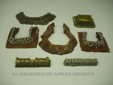 Wargames scenery. 7 piece Earthworks/Emplacements set 1/72 for 20mm (B)057