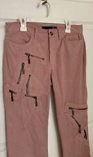 "Just Cavelli Dusty Pink Distressed Jeans Zipper Pockets Inseam 35"" Waist 30"""
