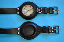 Watch Strap Leather with Case For Pocket Watch black