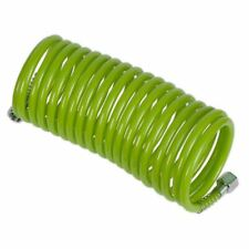 """Sealey PE Coiled Air Hose 5m x �5mm with 1/4""""BSP Unions - Green SA335G"""