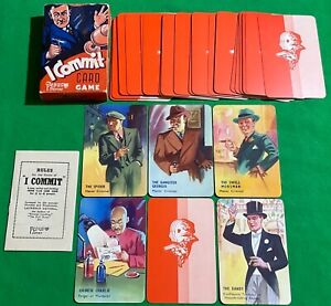 Old 1940s Vintage Pepys * I COMMIT * Playing Cards Game * POLICE Crime CRIMINALS
