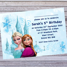 .KIDS FROZEN BIRTHDAY PARTY INVITATIONS - includes 12 PERSONALISED INVITES