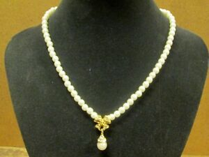 "Single DROP PEARL 14 1/2"" NECKLACE, New Old Stock, SUNDANCE CATALOG CO"