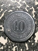 U/D Busendorf Germany Lothringer 10 Pf. Private Notgeld Token (1 Coin Only)