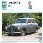 LANCHESTER SPRITE 1954 1955 CAR VOITURE Great Britain GRANDE BRETAGNE CARD FICHE