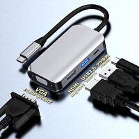 Adaptateur hub de port de charge PD 4 en 1 Type-C vers 4K HDMI / VGA / USB 3.0