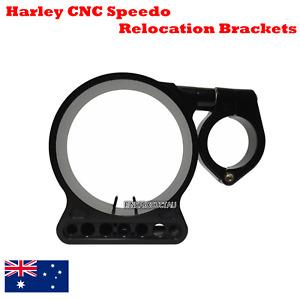 BLK CNC Billet speedo relocation Bracket Harley Sportster XL 883 1200 C N L R 48