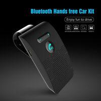 Portable Universal Bluetooth Car Kit Wireless Handsfree Speaker Phone Visor~