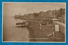 1945 RP PC FRONT FROM THE PIER, HERNE BAY - NICE BUSY SCENE