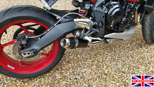 Triumph Street Triple 13-16 SP Engineering Satin Black Stubby Domed GP Exhaust