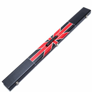 Quality Handmade Wide 3/4 Snooker Cue Case Red Cross Design With 3 Compartments