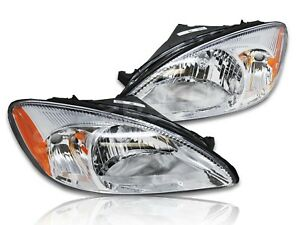 Set of Pair Eagle Eyes OE Replacement Headlights for 2000-2007 Ford Taurus