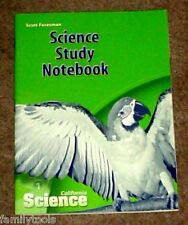 BRAND NEW Scott Foresman 1st Grade 1 Science Science Study Notebook Homeschool