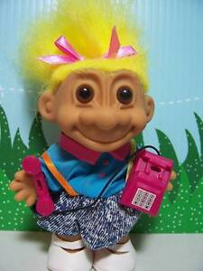 """GIRL w/OLD FASHIONED TELEPHONE - 5"""" Russ Troll - NEW IN ORIGINAL BAG Last Ones"""