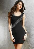 Vestido Mujer Elegante Vaina Atractivo Mini Vestido Noche Cóctel Adherente