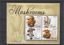 Tuvalu 2013 estampillada sin montar o nunca montada Setas 4v m/s naturaleza hongos Devil's bolete hongo sellos