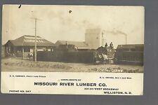 Williston NORTH DAKOTA RPc1910 ADVERTISING Missouri River LUMBER CO. Olson Photo