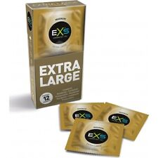 EXS Condoms Magnum Extra Large Natural Latex Wide Fit 12 XL Condoms Pack