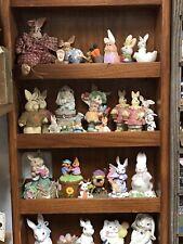 Lot Of 48 Ceramic/Resin? Bunnies/Rabbits