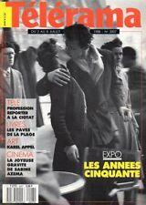 telerama n°2007 tour de france anquetil samuel fuller sabine azema prince 1988
