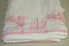 $785 NEW PRATESI Giudecca Lace Pure White Pink BATH SHEET TOWEL Exquisite!!!