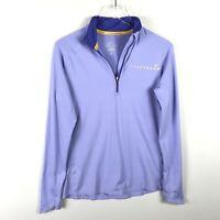 Nike Livestrong Element 1/2 Zip Shirt Size L Purple Womens Dri Fit Long Sleeve