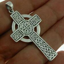 cross Knot Handmade Pendant Viking 925 Silver Large Celtic