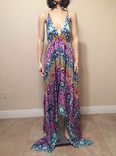 Ret. $398 Nicole Miller Artelier 100% Silk Summer Dress Cover-up Size L NWT