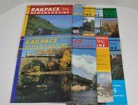 Railpace Newsmagazine Lot Of 9 1986