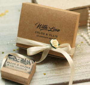 With Love Custom Rubber Stamp, Personalised Wedding favours Stamp