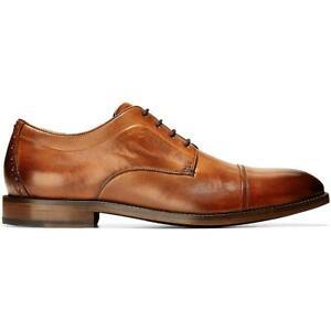 Cole Haan Mens Harrison 2.0 Tan Cap Toe Oxfords Shoes 13 Medium (D) BHFO 8606