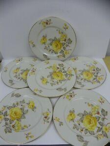 "Set of 6 Vintage Mayfair by CASTLETON (USA) 10 3/4"" Large Dinner Plates"