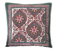 "Anokhi Turquoise & Pink Pillow Covers, 18""x18"", 100% Cotton"