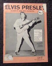 1956 ELVIS PRESLEY Album of Juke Box Favorites #1 VG- 3.5 15 Songs 36pgs