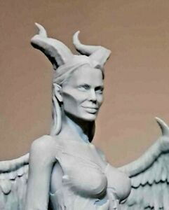 NEW ART TOY MALEFICENT RAW UNPAINTED RESIN CAST BUST STATUE ANGELINA JOLIE 15cms