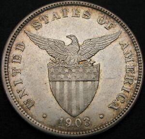 PHILIPPINES 50 Centavos 1903 - Silver - XF- 1203 ¤