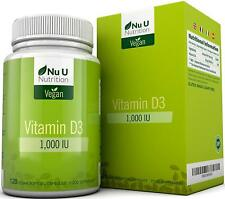 Vegan Vitamin D3 1,000 IU | 120 Vegan Softgels - 4 Month's Supply UK Nu U Nutrit