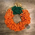 Halloween Pumpkin Burlap Wreath 18