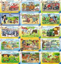 15 Teile Ravensburger Rahmenpuzzle Kinderpuzzle Disney Tiere Fahrzeuge Pferde