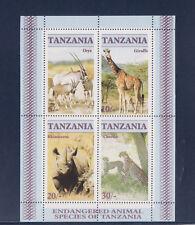 Tanzanie      bloc   faune en danger  1986