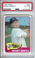 Mickey Mantle 1965 Topps Baseball Card Graded PSA EX-MT 6 New York Yankees #350