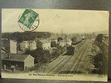 cpa 92 bas meudon bellevue vue sur la ligne  train